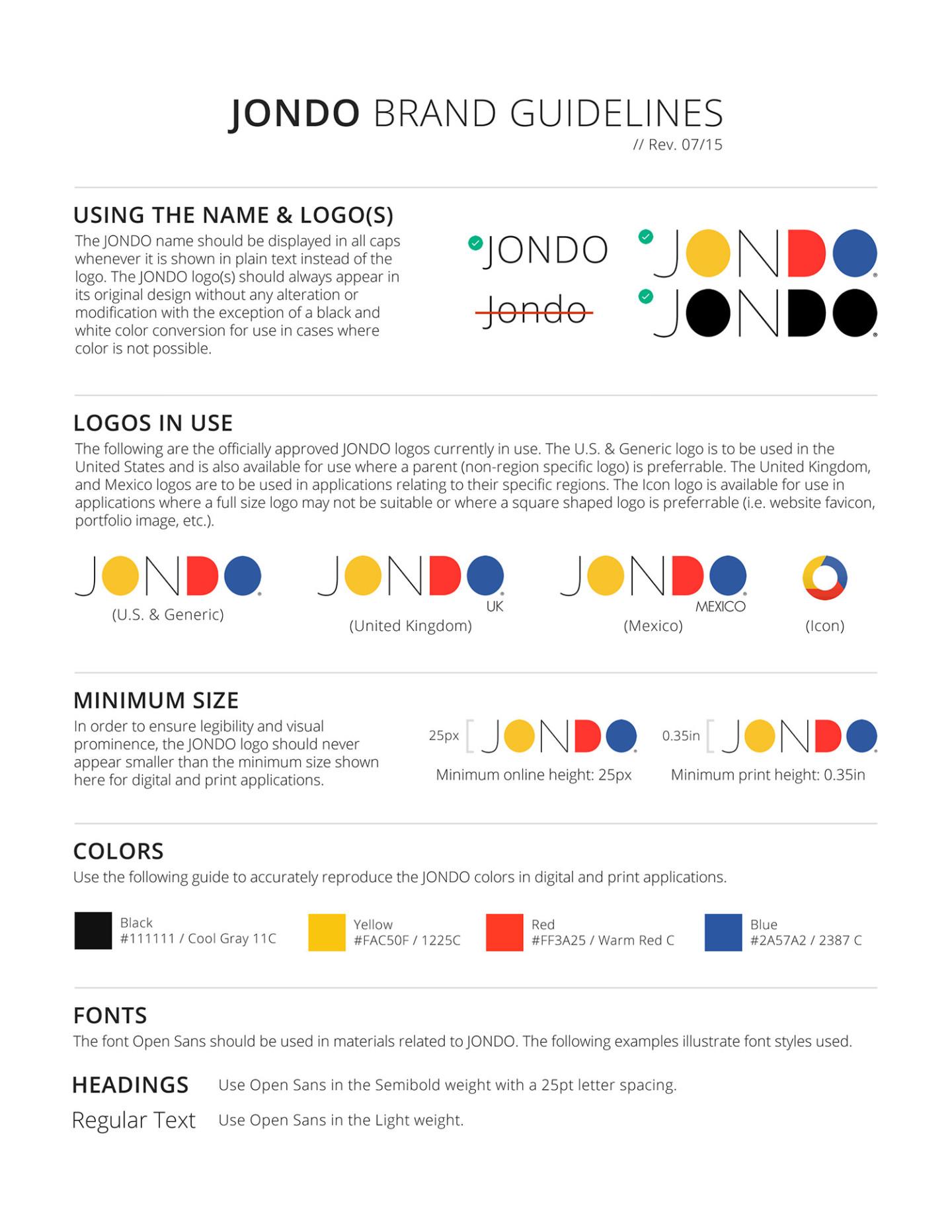 JONDO Brand Guidelines